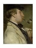 Portrait of Louis Sierig, Painter Prints by Matthijs Maris