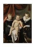 Group Portrait of Three Brothers Prints by Thomas de Keyser
