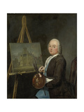 Portrait of Jan Ten Compe, Painter and Art Dealer in Amsterdam Print by Tibout Regters
