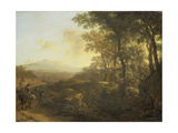 Italian Landscape with Mule Driver Poster by Jan Both