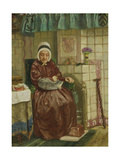 Old Woman by the Fireplace Posters by August Allebe