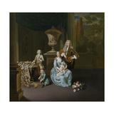 Portrait of Diederik, Baron Van Leyden Van Vlaardingen with His Wife and Three Sons Posters by Willem Van Mieris