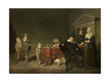 Family Group Portrait Art by Pieter Codde