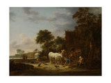 Country Inn with a Horse at the Trough Prints by Isaac Van Ostade