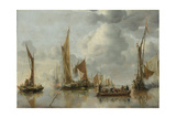 Home Fleet Saluting the State Barge Giclée-Premiumdruck von Jan Van De Cappelle