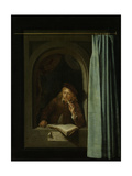 Man Smoking a Pipe Posters by Gerard Dou