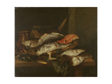 Still Life with Fish Prints by Abraham Hendricksz Van Beyeren