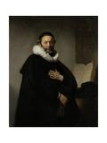 Portrait of Johannes Wtenbogaert Prints by  Rembrandt van Rijn