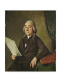 Portrait of the Amsterdam Art Collector Jacob De Vos Senior Print by Wybrand Hendriks