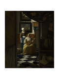 Love Letter Prints by Johannes Vermeer