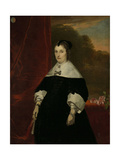 Machteld Bas (D), Wife of Abraham De Visscher Prints by Abraham van den Tempel