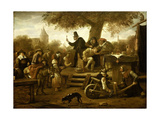 Quack Print by Jan Havicksz Steen