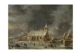 Church of Sloten in the Winter Prints by Jan Abrahamsz. Beerstraten