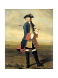 Portrait of Ludolf Backhuysen II, Painter, in the Uniform of the Dragoons Poster by Tibout Regters