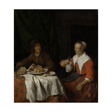 Man and Woman at a Meal Prints by Gabriel Metsu