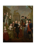 Portrait of Theodorus Bisdom Van Vliet and His Family, Jan Stolker. Prints by Jan Stolker