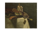 Still Life with Oriental Slippers Prints by August Allebe