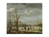 River View in the Winter Poster by Aert van der Neer