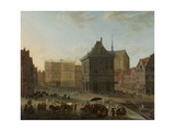 Dam in Amsterdam with the New Town Hall under Construction Prints by Jacob van der Ulft