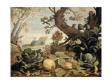Landscape with Fruits and Vegetables in the Foreground, Abraham Bloemaert Pósters por Abraham Bloemaert
