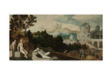 Landscape with Bathsheba Prints by Jan van Scorel
