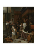 Feast of St Nicholas Prints by Jan Havicksz Steen