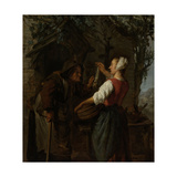 Herring-Seller Prints by Gabriel Metsu
