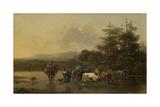Cattle Herd Print by Nicolaes Pietersz. Berchem