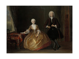 A Couple Making Music Print by Cornelis Troost