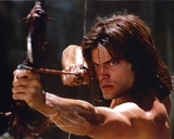 Casper Van Dien Pointing Bow and Arrow in Topless Photo by  Movie Star News