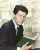 Eddie Fisher Reading Book in Tuxedo Portrait Photo by  Movie Star News