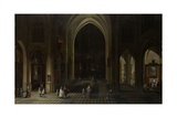 A Church Interior by Candlelight Prints by Pieter Neefs