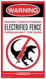 Jurassic World - Raptor Fence Tin Sign