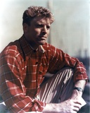 Burt Lancaster in Red Checkered long sleeve Photo by  Movie Star News