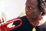 Miles Davis with Trumpet Close Up Portrait Photo by  Movie Star News