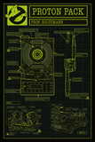 Ghostbusters- Proton Pack Schematics Prints