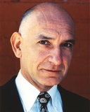Ben Kingsley Close Up Portrait with Plain Smile in Black Suit and Printed Ties Photo by  Movie Star News