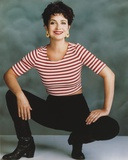 Annie Potts posed in White and Red Stripe Top with Black Jeans Photo by  Movie Star News