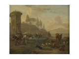 Livestock by a Fountain Prints by Willem Romeyn