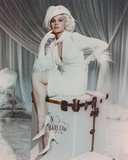 Carroll Baker in White Furry Sleeve Dress Photo by  Movie Star News
