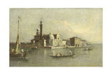 Isola Di San Michele in Venice Poster by Giacomo Guardi