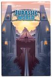 Jurassic World - Park Gates Plechová cedule