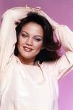 Maren Jensen Posed in Light Pink Blouse with Two Hands Raise Photo by  Movie Star News