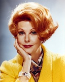 Arlene Dahl in Yellow Coat with Scarf Close Up Portrait Photo by  Movie Star News