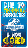 Jurassic World - Ride Closed Tin Sign