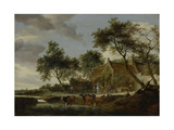 Watering Place Print by Salomon van Ruysdael