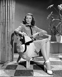 Dorothy Malone Printed Dress sitting and posed Photo by  Movie Star News