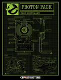 Ghostbusters- Proton Pack Schematics Plakater
