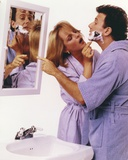 Helen Hunt Shaving Her Partner in Blue Robe Photo by  Movie Star News