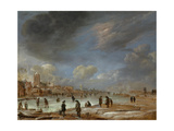 River View in the Winter Art by Aert van der Neer